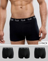 French Connection FCUK 3 Pack Boxers-Black