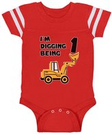 TeeStars 1st Birthday Bulldozer Construction Toddler Infant Baby Jersey Bodysuit