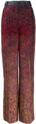 Missoni high waisted patterned trousers