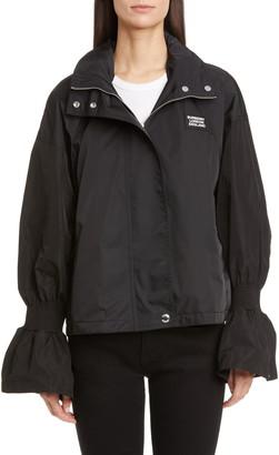 Burberry Neston Flare Cuff Water Resistant Rain Jacket