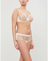 Simone Perele Nuance embroidered soft-cup mesh bra