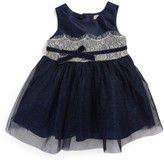 Nanette Lepore Infant Girl's Shimmer Lace & Tulle Dress