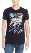 Star Wars Men's The Force Awakens Blue Squad Colorful Space T-Shirt