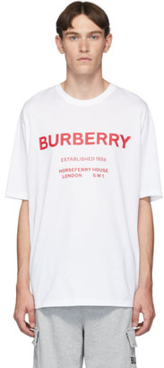 Burberry White Murs T-Shirt
