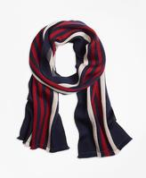 Brooks Brothers Double-Faced Rugby Stripe Scarf