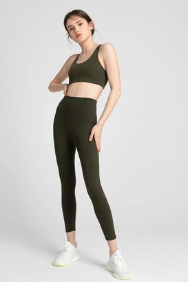 J.ING Mountain Olive High-Waist Vented Legging