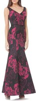 JS Collections Stretch Jacquard Gown
