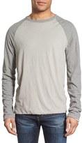James Perse Men's Raglan Sleeve Crewneck Fleece Top