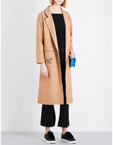 Mo&Co. Worsted wool-blend coat
