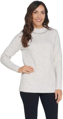 Denim & Co. Round-Neck Long-Sleeve Sweater