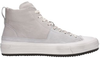 Officine Creative Mes 004 Sneakers In Grey Suede And Leather