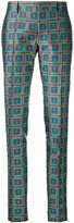 Bally geometric print trousers - women - Silk/Polyester/Cupro - 48