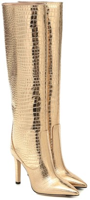 Jimmy Choo Mavis 100 leather knee-high boots