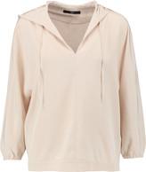 Tibi Silk crepe hooded top
