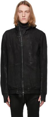 Boris Bidjan Saberi Black Vinyl-Coated Zip Jacket