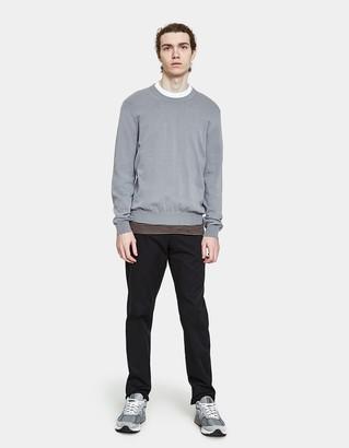 Maison Margiela Men's Knit Sweater in Grey, Size Small | 100% Cotton