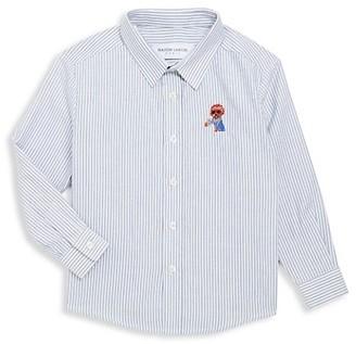 Maison Labiche Little Boy's & Boy's Coffee Dog Button-Front Shirt