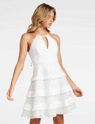 Forever New Elandra Petite Lace Halter Dress - Porcelain - 4