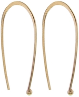Melissa Joy Manning 1-in. Open Oval Hoop with Ball - Yellow Gold
