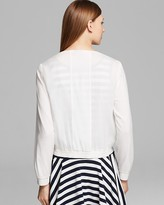 DKNY Zip Front Collarless Jacket