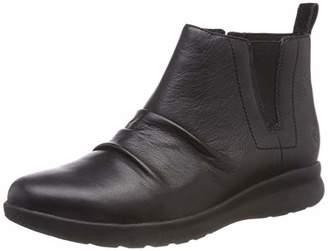 Clarks Women's Un Adorn Mid Slouch Boots, Black Leather