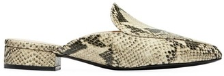 Cole Haan Piper Snakeskin-Embossed Leather Mules