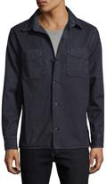 Save Khaki Herringbone Overdye Field Cotton Shirt Jacket