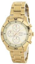 Seiko 489251 Gold Tone Stainless Steel 44mm Mens Watch