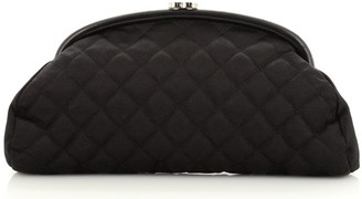 Chanel Timeless Clutch Quilted Satin