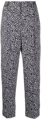 MICHAEL Michael Kors Leopard Print Straight-Leg Trousers