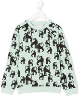 Mini Rodini Panther print sweatshirt - kids - Organic Cotton/Spandex/Elastane - 7 yrs