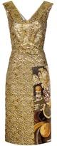 Prada Fructidor Cloqué Jacquard Dress