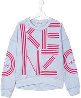 Kenzo logo print sweatshirt - kids - Cotton - 16 yrs