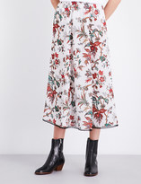 McQ Floral-patterned chiffon skirt