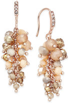 INC International Concepts Gold-Tone Mauve Stone and Crystal Cluster Drop Earrings, Only at Macy's