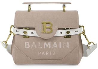 Balmain B-Buzz Canvas Satchel