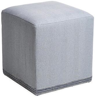 Imagine Home Azur Cube Ottoman - Navy/Cream
