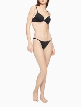 Calvin Klein Logo Cotton String Bikini Bottom
