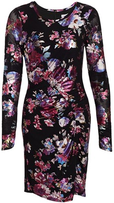Parker Briza Metallic Floral Bodycon Dress