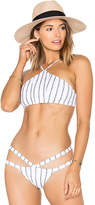 SKYE & staghorn Turkish Crop Bikini Top in White. - size L (also in M,S)