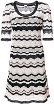 M Missoni scalloped pattern dress