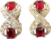 One Kings Lane Vintage Bogoff Ruby Crystal Earrings