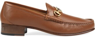 Gucci leather loafers with Interlocking G Horsebit