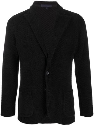 Lardini Knitted Single-Breasted Blazer
