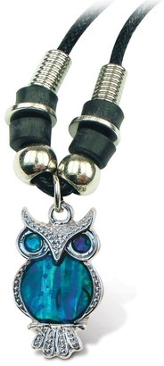Overstock Puzzled Aqua Owl Wild Style Necklace 18 Inch
