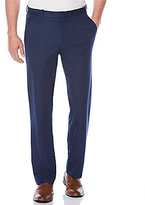 Perry Ellis Non-Iron Classic-Fit Flat-Front Travel Luxe Tonal Stripe Pants
