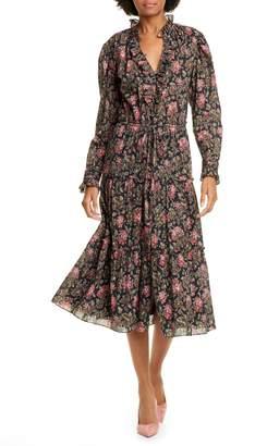 Rebecca Taylor Chouette Long Sleeve Dress