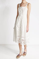 Sea Cotton Dress with Cut-Out Detail