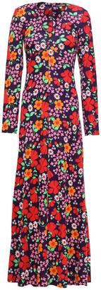ALEXACHUNG Floral-print Stretch-jersey Maxi Dress