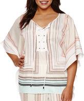 Bisou Bisou Kimono Tie Kaftan Top - Plus